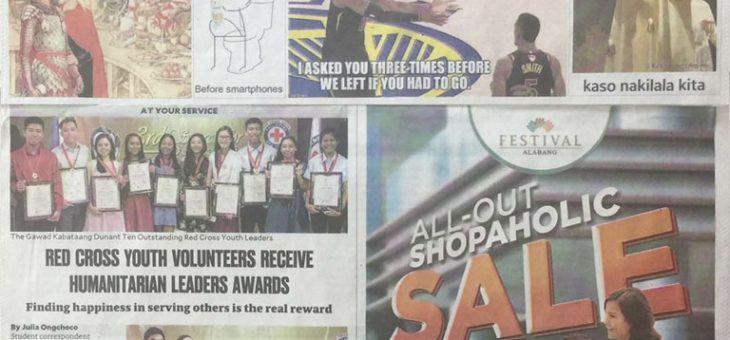 Red Cross Youth Volunteers Receive Humanitarian Leaders Awards